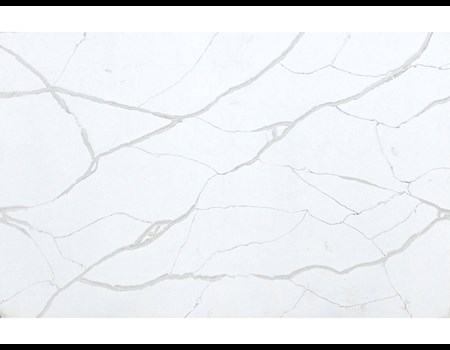 3CM CALACATTA VAGLI QUARTZ Leathered HALF SLAB