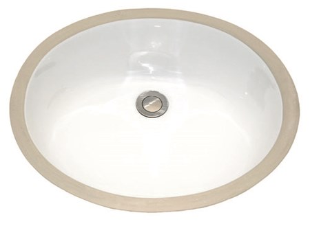 AMERISINK AS202 UNDERMOUNT PORCELAIN SINK - OVAL 17X14X7