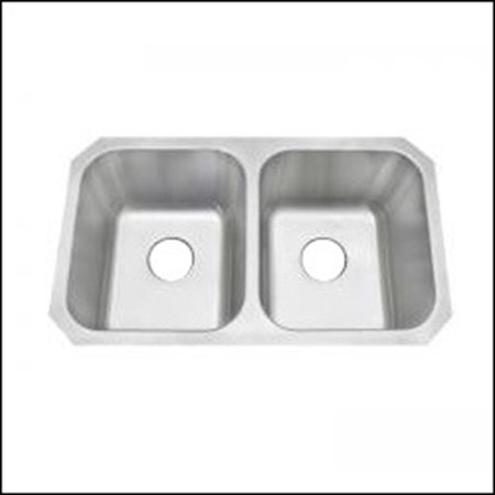 AMERISINK AS101 50/50 UNDERMOUNT S.S. KITCHEN SINK 31 X 18 X 10/10 - 18 Gauge