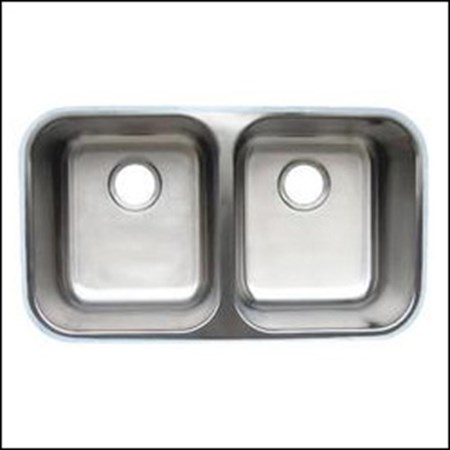 AMERISINK AS114 UNDERMOUNT S.S. KITCHEN SINK 31 X 18 X 8/8 - 18 Gauge