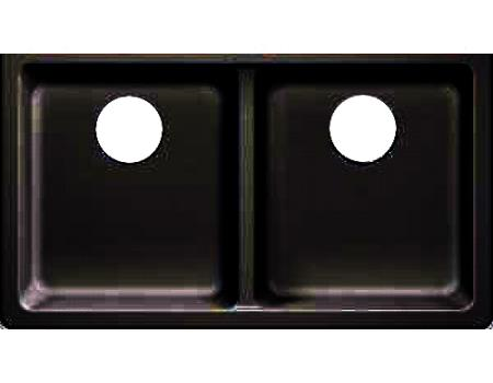 AMERISINK AS601 COMPOSITE SINK- BLACK-50/50 33 X 18.5 X 9.5/9.5