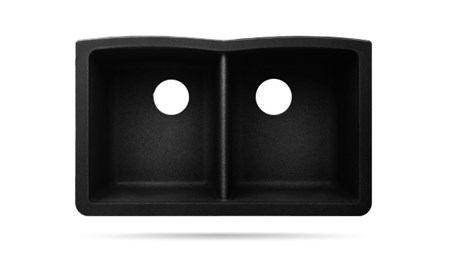 BOMA UNDERMOUNT COMPOSITE SINK - 50/50 - BLACK-CS AT03 32 X 20 X 9