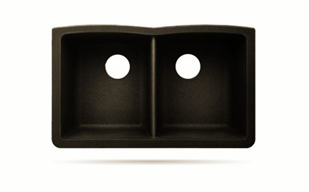 BOMA UNDERMOUNT COMPOSITE SINK - 50/50 - BROWN-CS AT03 32 X 20 X 9