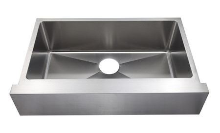 AMERISINK AS350 SINGLE BOWL APRON SINK S.S. KITCHEN SINK - 31 X 20 X 9 - 18 Gauge