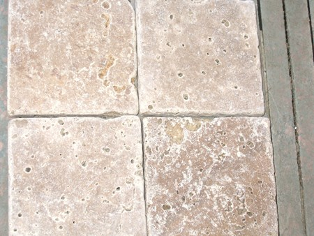 4x4 Tumbled Noce Travertine