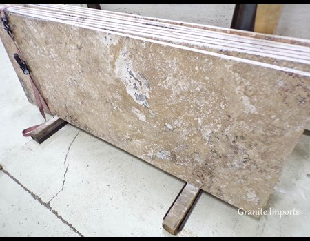 3CM TRAVERTINE GIALLO HALF SLAB